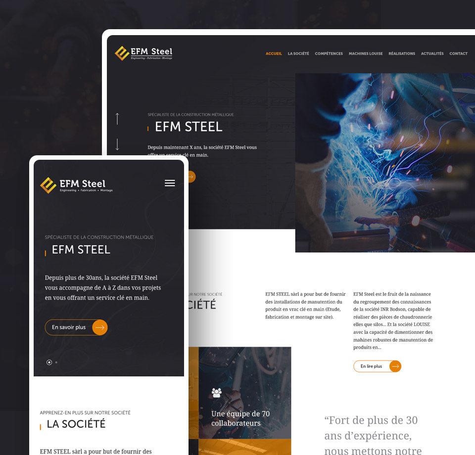 Projet - site internet de la société Efm Steel