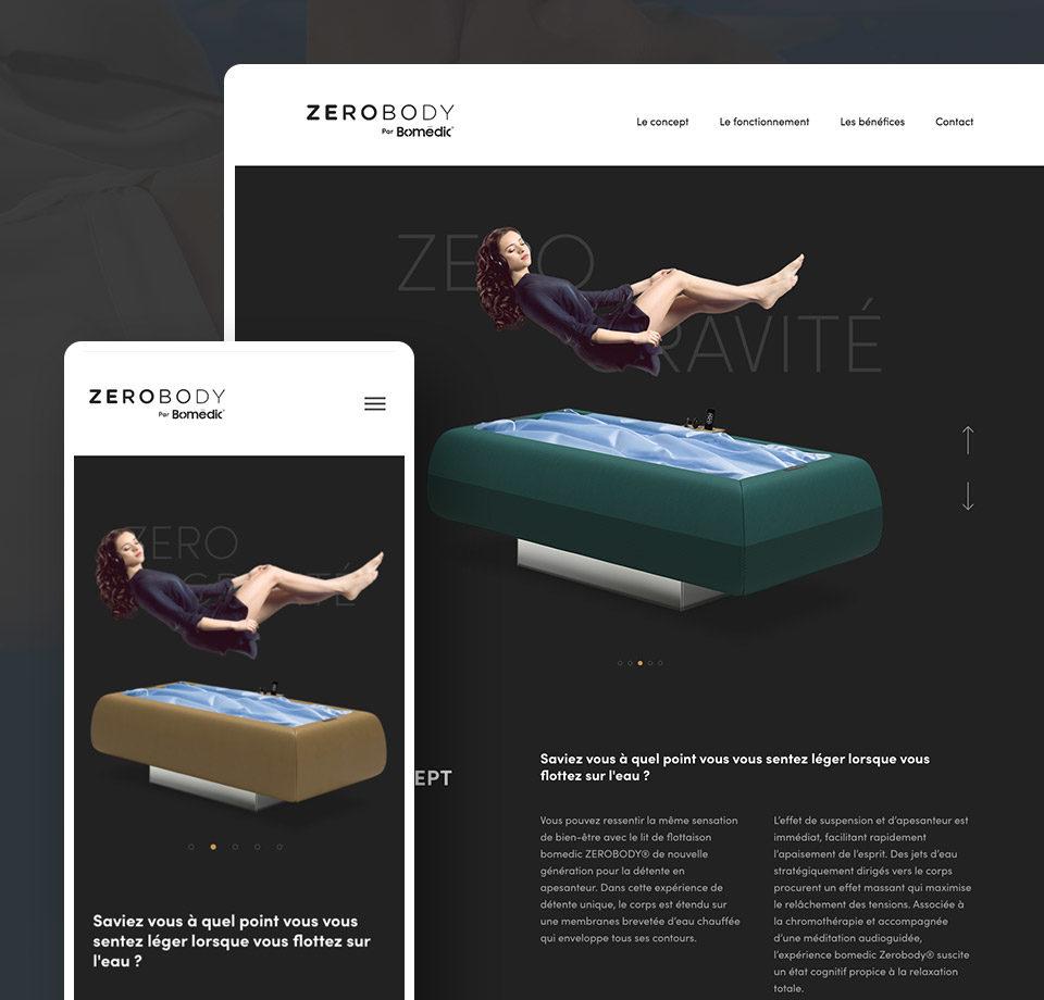 Projet - site internet du lit de flottaison Zerobody